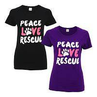 Peace Love Rescue Tee