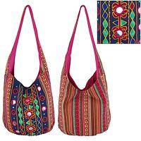Stripes and Bling! - Magic Mirror Hobo Bag