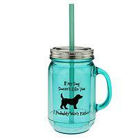 If My Dog Doesn't Like You... - ...I Probably Won't Either Mason Jar Pet Lover Mug