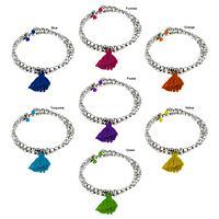 Taj Tassel Metal Bead Bracelet