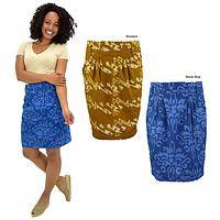 Batik Pleated Skirt