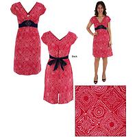 Hand Block Print Crescent Dress