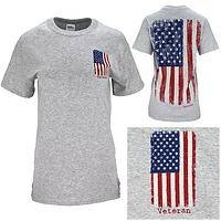 Distressed Flag Veteran T-Shirt