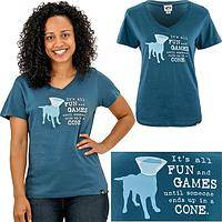 It's All Fun & Games V-Neck Tee