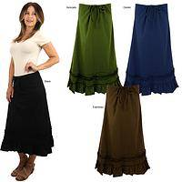 Organic Long Drawstring Skirt