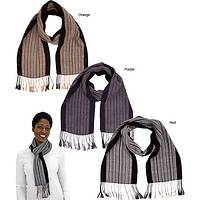 Packs a Punch! - Powerful Pinstripes in an Alpaca Wool Blend Scarf
