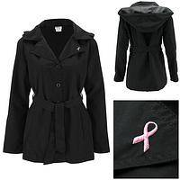 Pink Ribbon Hooded Rain Jacket