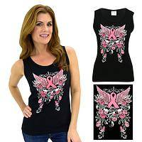 Support Admire Honor Winged Pink Ribbon Tank Top