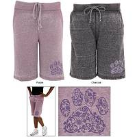 Purple Paw Burn Out Board Shorts