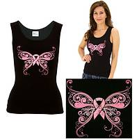 Pink Ribbon Butterfly Tank Top