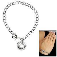My Little Angel Paw Pewter Bracelet