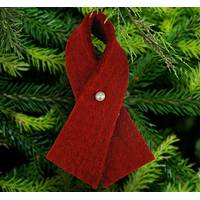 Handmade Felt Red Ribbon Ornament