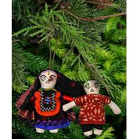 Indian Pocket Doll & Ornament - Set of 2