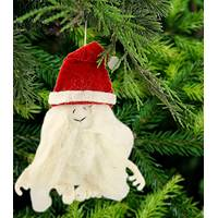 Santa Yeti Ornament