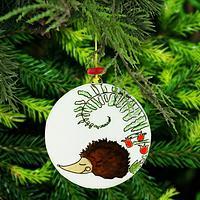 Sleeping Hedgehog Recycled Glass Ornament