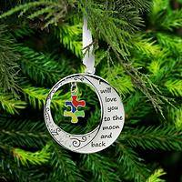 To the Moon & Back Autism Awareness Ornament