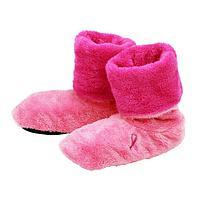 Pink Ribbon Fleece Booties