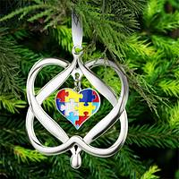 Heart Puzzle Ornament