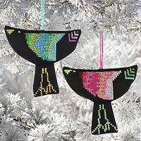 Sulafa Bird of Flight Ornament - Set of 2