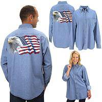 Eagle Flag Denim Shirt