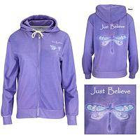 Just Believe Lightweight Hooded Jacket