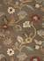 Hand-tufted floral pattern wool blend brown/multi area rug, 'Choco Floral' - Hand-Tufted Floral Pattern Wool Blend Brown/Multi Area Rug thumbail