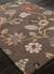 Hand-tufted floral pattern wool blend brown/multi area rug, 'Choco Floral' - Hand-Tufted Floral Pattern Wool Blend Brown/Multi Area Rug (image 2c) thumbail