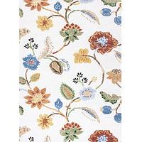 Hand-tufted floral pattern ivory wool blend area rug, 'Crema Floral' - Hand-Tufted Floral Pattern Wool Chenille Area Rug