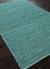 Natural solid turquoise jute area rug, 'Turquoise Loop' - Natural Solid Turquoise Jute Area Rug (image 2c) thumbail