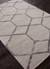 Hand-tufted geometric pattern grey-beige wool blend area rug, 'Intersection' - Hand-Tufted Geometric Pattern Grey-Beige Wool Blend Area Rug (image 2c) thumbail