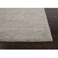 Hand loomed gray/ivory solid wool area rug, 'Cemented' - Hand Loomed Gray/Ivory Solid Wool Area Rug