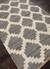 Natural Moroccan pattern gray/ivory hemp area rug, 'Earth Diamond' - Natural Moroccan Pattern Gray/Ivory Hemp Area Rug (image 2c) thumbail