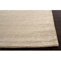 Hand loomed beige striped wool blend area rug, 'Soft Sands' - Hand Loomed Striped Beige Wool Blend Area Rug