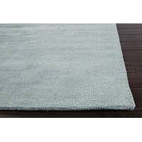 Hand loomed mint striped wool blend area rug, 'Minty Cool' - Hand Loomed Striped Mint Wool Blend Area Rug