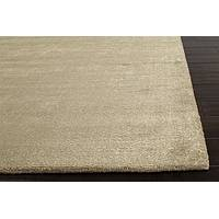 Hand loomed light taupe striped wool blend area rug, 'Taupe Hope' - Hand Loomed Striped Light Taupe Wool Blend Area Rug