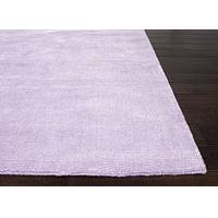 Hand loomed lilac striped wool blend area rug, 'Lilac Lush' - Hand Loomed Striped Lilac Wool Blend Area Rug