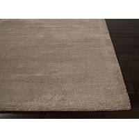Hand loomed light brown striped wool blend area rug, 'Kensington' - Hand Loomed Striped Light Brown Wool Blend Area Rug