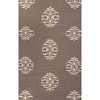 Flat-weave patterned taupe/ivory wool area rug, 'Insignia' - Flat-Weave Tribal Pattern Wool Taupe/Ivory Area Rug
