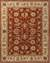 Hand-tufted Oriental pattern red/taupe wool area rug, 'Olympia' - Hand-Tufted Oriental Pattern Wool Red/Taupe Area Rug thumbail