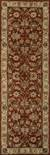 Hand-tufted Oriental pattern red/taupe wool area rug, 'Olympia' - Hand-Tufted Oriental Pattern Wool Red/Taupe Area Rug (image 2f) thumbail