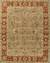 Hand-tufted wool area rug, 'Golden Hills' - Hand-Tufted Green/Red Wool Area Rug thumbail
