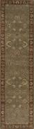 Hand-tufted wool area rug, 'Golden Hills' - Hand-Tufted Green/Red Wool Area Rug (image 2f) thumbail