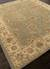 Hand-tufted oriental pattern green/ivory wool area rug, 'Bombay Gold' - Hand-Tufted Oriental Pattern Wool Green/Ivory Area Rug (image 2c) thumbail