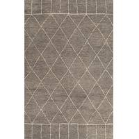 Hand-knotted Moroccan pattern wool area rug, 'Ethereal' - Hand-Knotted Moroccan Pattern Wool Taupe Ivory Area Rug