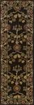 Handmade wool chenille area rug, 'Chamelot' - Handmade Wool Chenille Area Rug with Flowers and Leaves (image 2f) thumbail