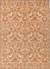 Hand-tufted wool area rug, 'Fireglow' - Hand-Tufted Oriental Pattern Wool Orange and Ivory Area Rug thumbail