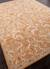 Hand-tufted wool area rug, 'Fireglow' - Hand-Tufted Oriental Pattern Wool Orange and Ivory Area Rug (image 2c) thumbail