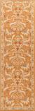 Hand-tufted wool area rug, 'Fireglow' - Hand-Tufted Oriental Pattern Wool Orange and Ivory Area Rug (image 2f) thumbail