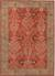 Hand-tufted wool area rug, 'Crimson Spires' - Hand-Tufted 100% Wool Area Rug in Shades of Red thumbail
