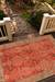 Hand-tufted wool area rug, 'Crimson Spires' - Hand-Tufted 100% Wool Area Rug in Shades of Red (image 2d) thumbail